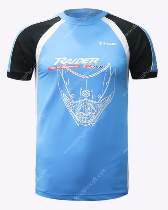 may áo thun cổ tròn đồng phục raider
