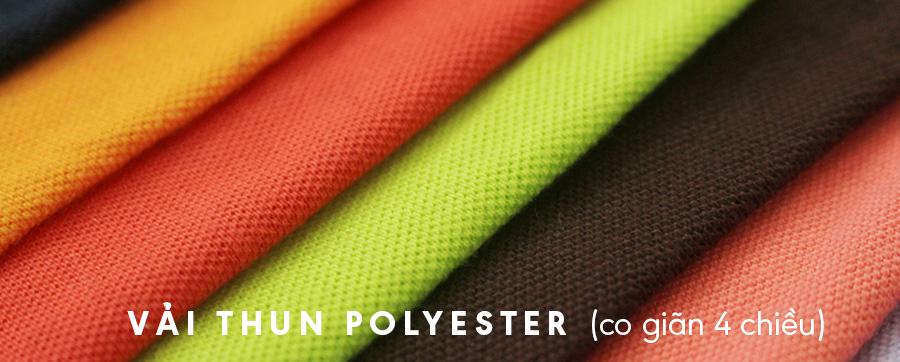 vải thun polyester co giãn 4 chiều