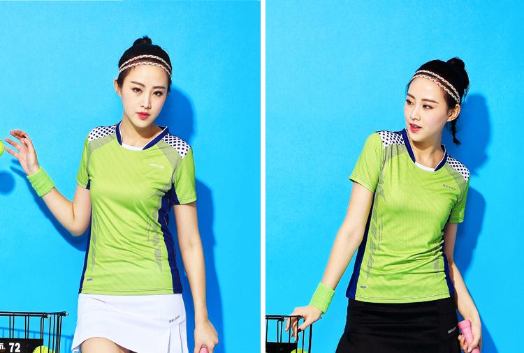 áo thun giải cầu lông thể thao