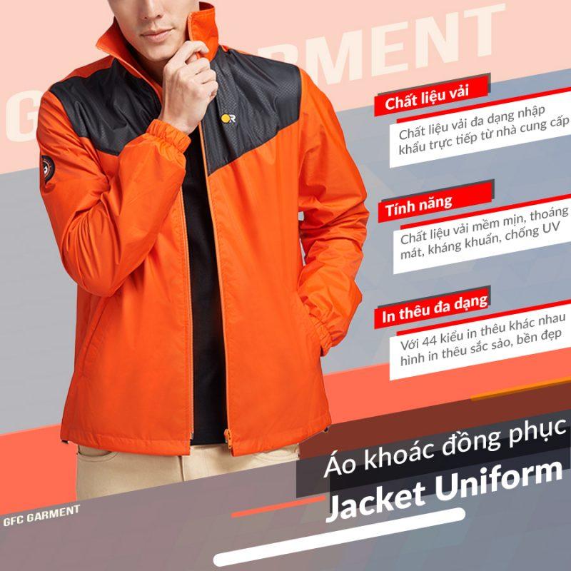 áo khoác đồng phục cao cấp