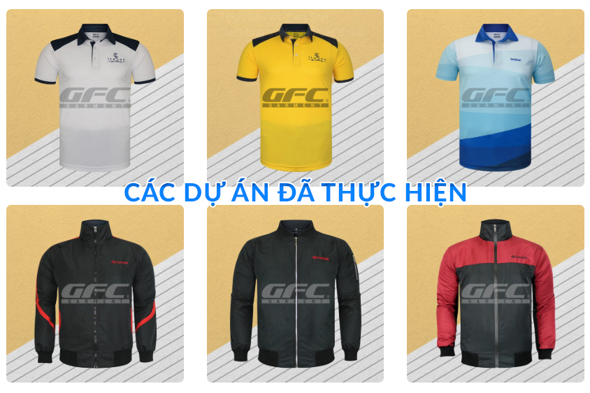 Các dự án may áo đồng phục GFC