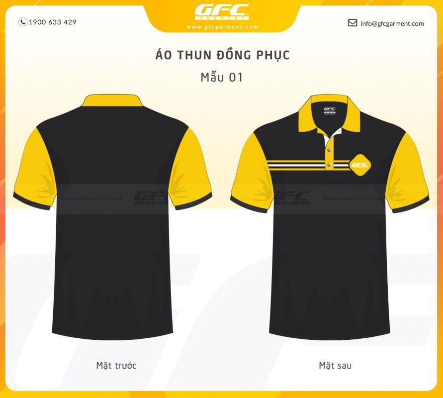 Mẫu áo thun đồng phục công sở