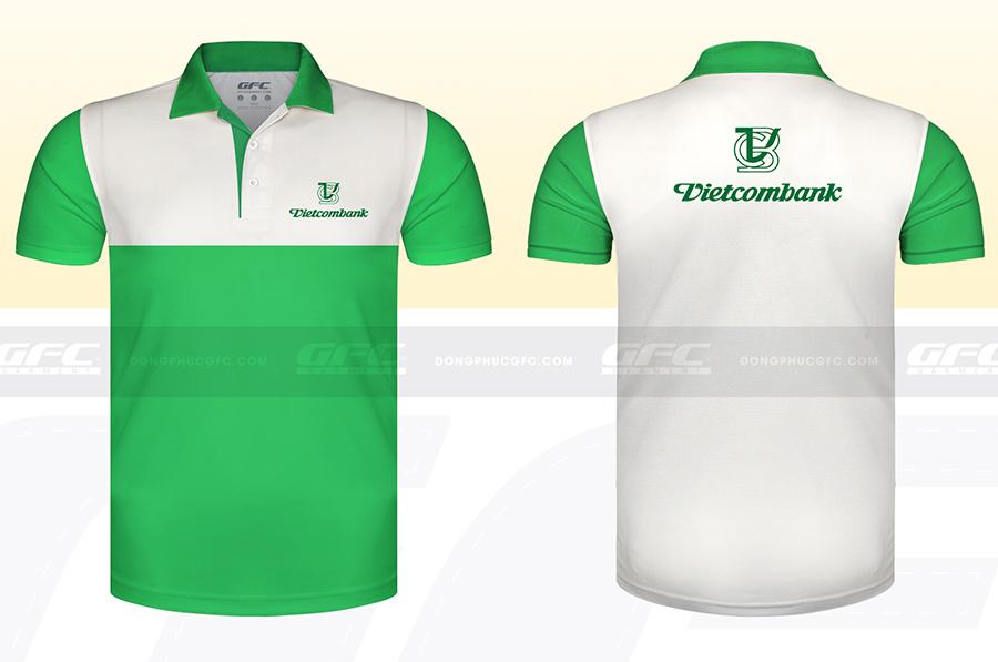 Mẫu áo thun công sở Ngân Hàng Vietcombank