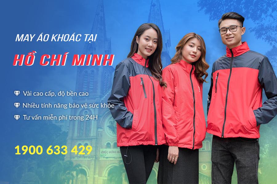 May áo khoác gió theo yêu cầu tại Hồ Chí Minh